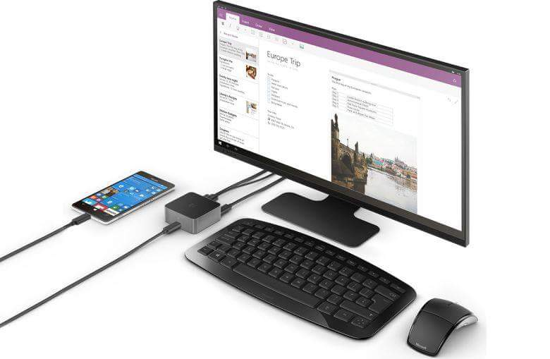 Microsoft Lumia 950XL Windows 10 display dock